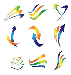 Swashes and arrows design vector