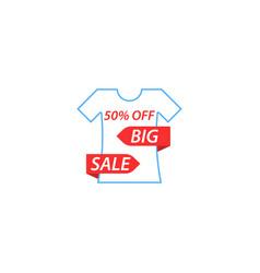 T-shirt is a big sale vector