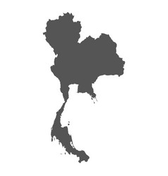 Thailand map black icon on white background vector