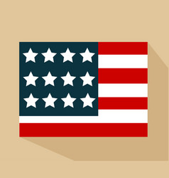 united state of america flag isolated vector image