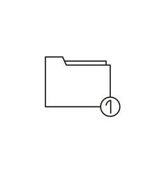 upload folder icon vector image