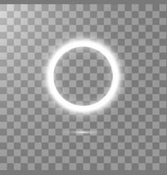 white round frame shining circle banner isolated vector image