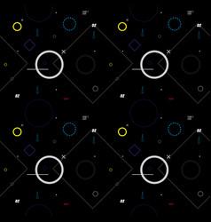 abstract dark geometric pattern vector image