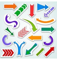 Arrows stickers set vector image