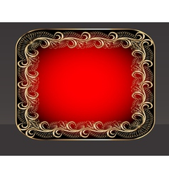background frame with vegetable golden pattern vector image vector image