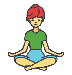 beautiful woman in yoga pose pilates women vector image