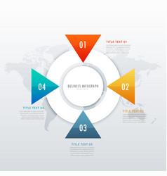 four steps infographic design for data vector image