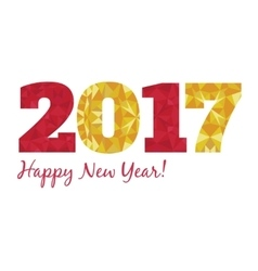 2017 Happy New Year with vector image