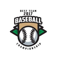 baseball championship best team 2017 logo vector image