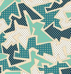 blue textile geometric seamless pattern vector image