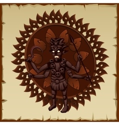 Evil brown statue of an ancient deity vector image vector image