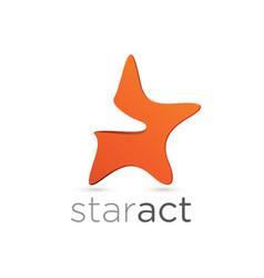 figurative star emblem design vector image vector image