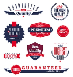 premium and quality labels vector image