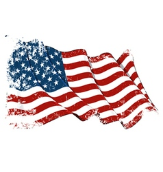 Usa flag grunge vector