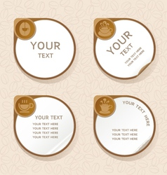 Coffee label stickers set vector image vector image