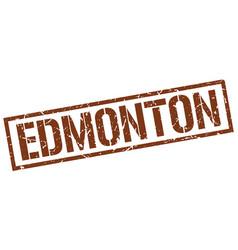 edmonton brown square stamp vector image