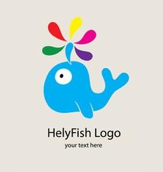 HelyFish Logo vector image vector image