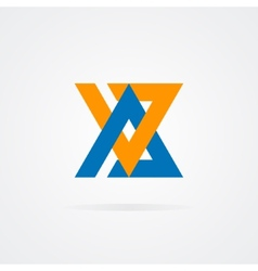 Logo combination of a A and V letter vector image
