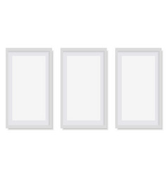 set of white square photo frames vector image