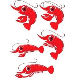 shrimp cartoon vector image vector image