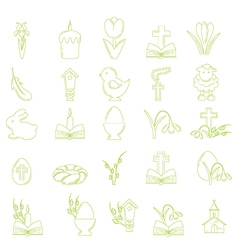 Easter Icons vector image vector image