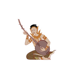 thai traditional tattoo thai painting vector image