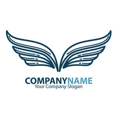 wings business company or brand icon vector image vector image