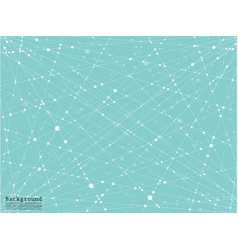 abstract background with connected line and dots vector image
