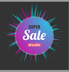 abstract super sale banner modern background vector image