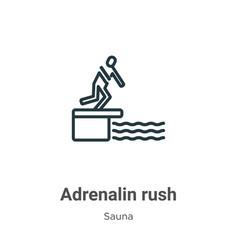 Adrenalin rush outline icon thin line black vector
