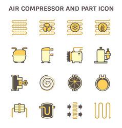 Air compressor part conditioner system vector