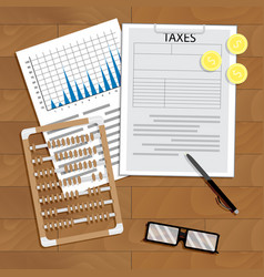 analysis of payment of taxes vector image