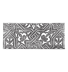 Arabesque pattern engraving vector