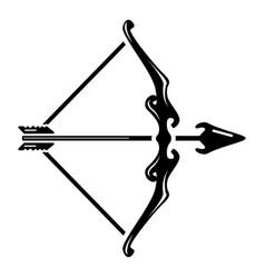 Archery aim icon simple style vector