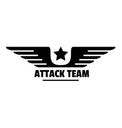 Atack avia team logo simple style vector