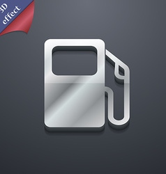 Auto gas station icon symbol 3D style Trendy vector