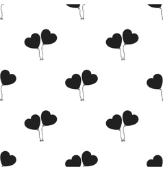 Baloons icon in black style isolated on white vector