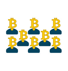 Bitcoin pool extraction of cryptocurrency mining vector
