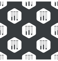 Black hexagon test-tubes pattern vector