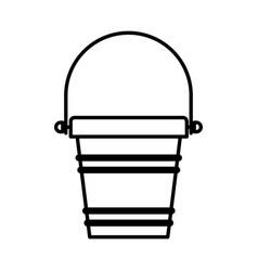 Black silhouette of toy bucket beach kit vector