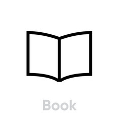 book icon editable outline vector image