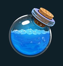 Bottle of water game icon of magic elixir vector