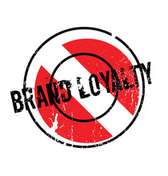 Brand loyalty rubber stamp vector
