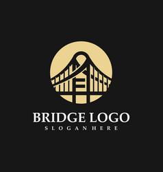 bridge logo business logo vector image