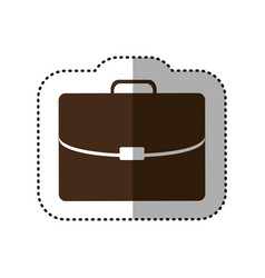 brown business suitcase icon image vector image