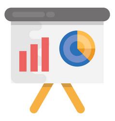 Business presentation flat icon vector