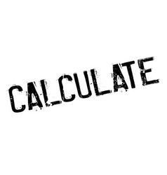 calculate rubber stamp vector image