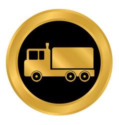 cargo car button vector image