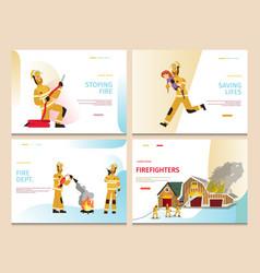 Cartoon concept firefighter vector