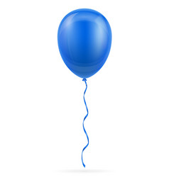 celebratory blue balloon pumped helium with vector image